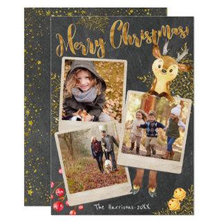 Tarjeta Día de fiesta del navidad del collage de la foto