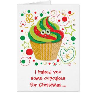 Tarjeta Día de fiesta divertido de Navidad del navidad de