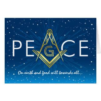 Tarjeta Día de fiesta masónico del Freemasonry de las