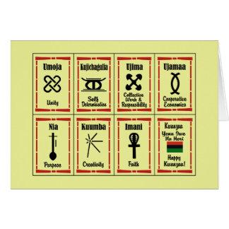 Tarjeta Día de fiesta Notecards de Kwanzaa de 7 principios