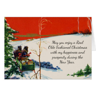 Tarjeta Día de fiesta rojo Nevado del navidad del