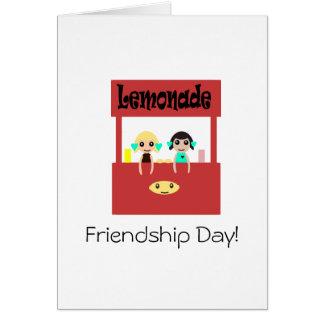 Tarjeta Día de la amistad: Puesto de limonadas