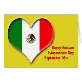 Tarjeta Día de la Independencia 16 de septiembre mexicano