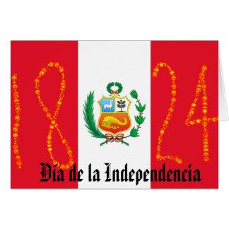 Tarjeta Día de la Independencia Perú