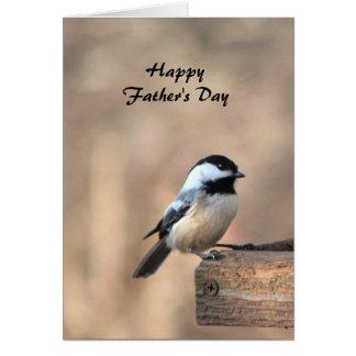 Tarjeta Día de padres del Chickadee