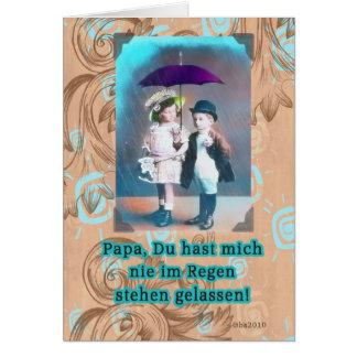 Tarjeta día de padres feliz alemán de Vatertag del zum del