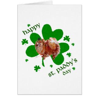 Tarjeta Día de Poeranian St Patrick