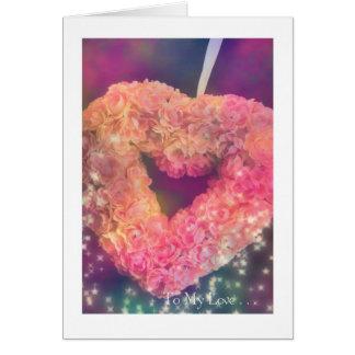 Tarjeta Día de San Valentín: Corazón rosado #1
