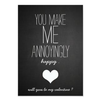 Tarjeta Día de San Valentín divertido del corazón lindo de