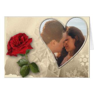 Tarjeta Día de San Valentín personalizado de la foto