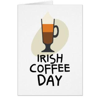 Tarjeta Día del café irlandés - día del aprecio