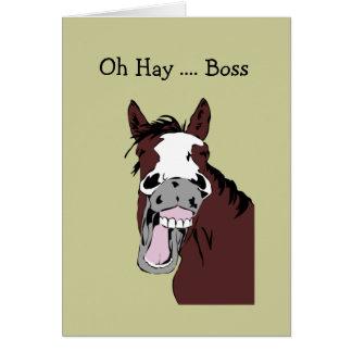 Tarjeta Día del cumpleaños de Boss de la diversión gran al