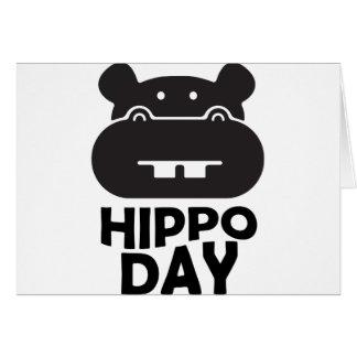 Tarjeta Día del hipopótamo - 15 de febrero
