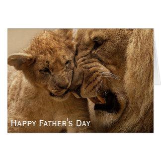 Tarjeta Día del león y de padre de Cub