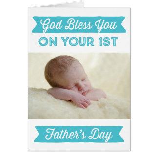 Tarjeta Día el primer de padre personalizado - dios