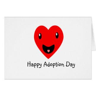 Tarjeta Día feliz 7,8 de la adopción