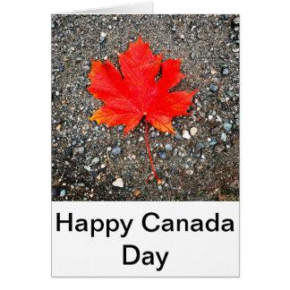 Tarjeta Día feliz de Canadá