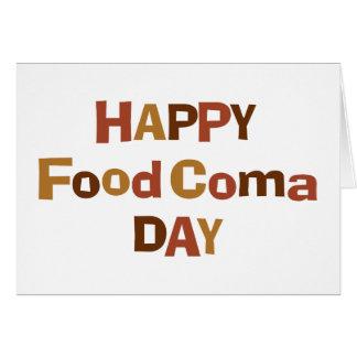 Tarjeta Día feliz de la coma de la comida