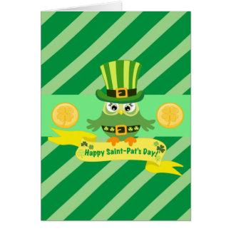 Tarjeta Día feliz de St Patrick