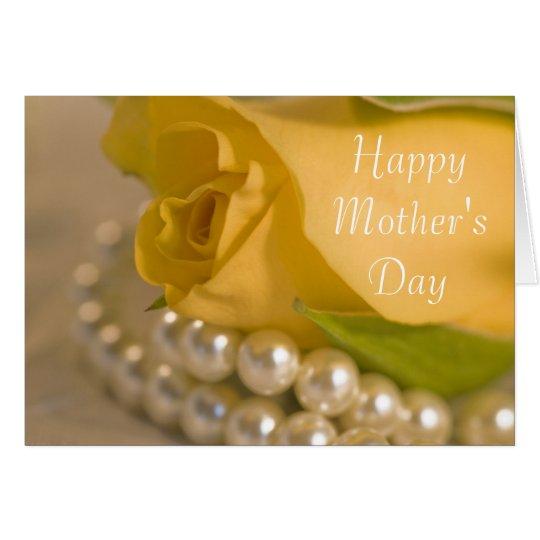 Tarjeta Día feliz del rosa amarillo y de madres de las