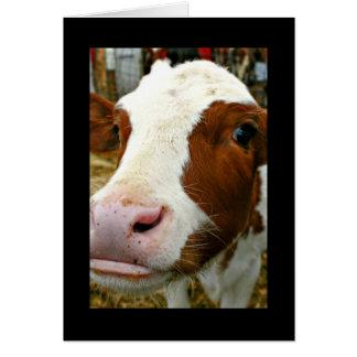Tarjeta Día fresco del tío padre de Udderly con la vaca