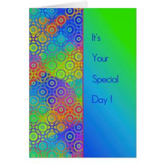 Tarjeta Día hermoso del Special del modelo de los círculos