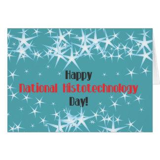 Tarjeta Día nacional feliz de los histólogos