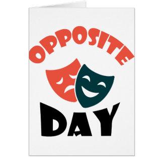 Tarjeta Día opuesto - día del aprecio