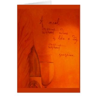 Tarjeta Día sin notecard del vino…