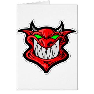 Tarjeta Diablo del dibujo animado