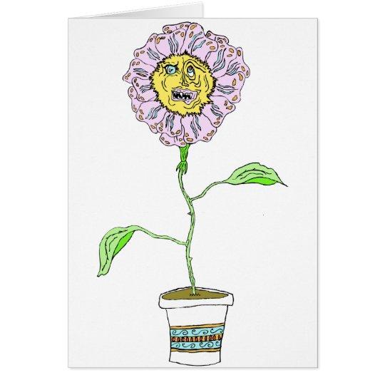 Tarjeta diabólica de la flor de la margarita