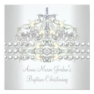Tarjeta Diamante blanco de la perla de la plata de la