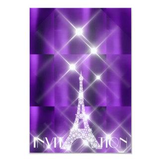 Tarjeta Diamante brillante de la púrpura de las estrellas