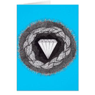Tarjeta Diamante formado bajo gran presión