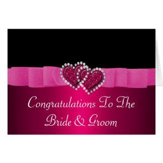 Tarjeta Diamante rosado y negro que cierra casarse de los