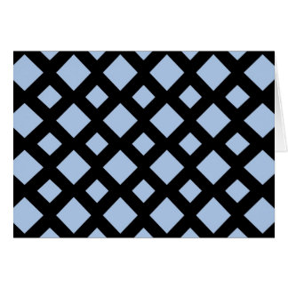 Tarjeta Diamantes azules claros en negro