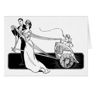 Tarjeta Diamantes de la boda en el crédito casado