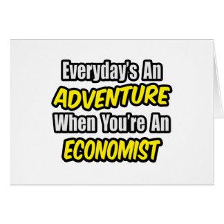 Tarjeta Diario una aventura. Economista