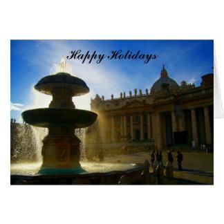 Tarjeta días de fiesta de la fuente de vatican