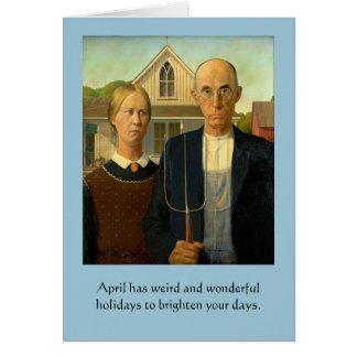 Tarjeta Días de fiesta extraños de abril