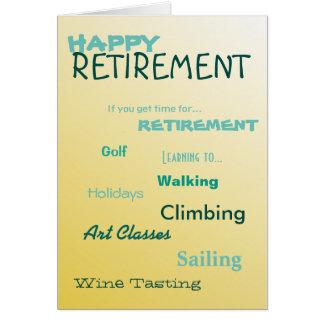 Tarjeta Días de fiesta felices de la navegación del golf