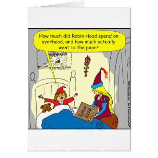Tarjeta dibujo animado de arriba de 383 Robin Hood