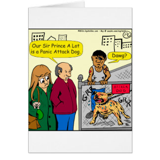 Tarjeta dibujo animado del perro de ataque de pánico 867