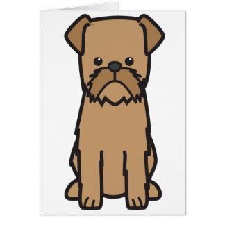 Tarjeta Dibujo animado del perro de Bruselas Griffon