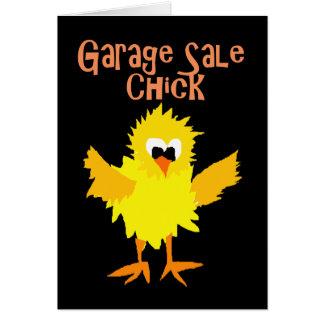 Tarjeta Dibujo animado divertido del polluelo de la venta