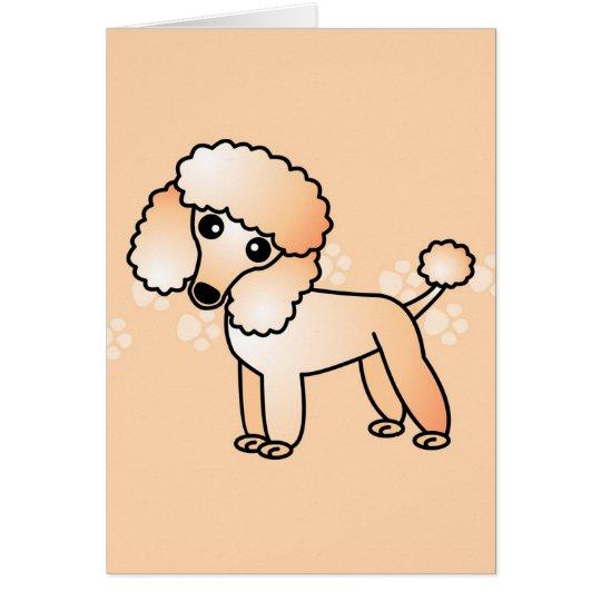 Tarjeta Dibujo animado lindo del caniche del albaricoque