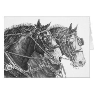 Tarjeta Dibujo del caballo de proyecto de Clydesdale por