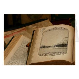 Tarjeta Dibujo del embarcadero de Santa Mónica en libro