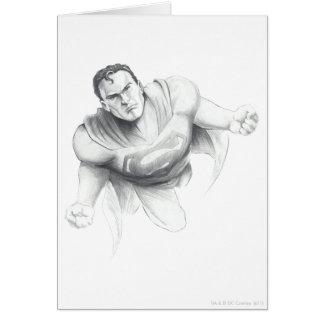 Tarjeta Dibujo del superhombre