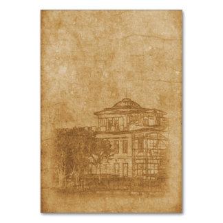 Tarjeta Dibujo del vintage del edificio